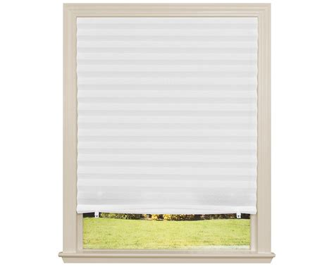 best l shades fabric shade original light filtering pleated white 36 quot x72