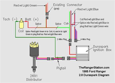 duraspark wiring diagram ford duraspark ii ignition system
