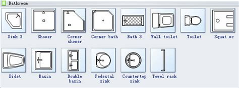 floor plan bathroom symbols home plan symbols