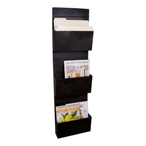 magazine racks wall mount wall mounted 3 tier metal vertical file holder magazine rack antique iron office