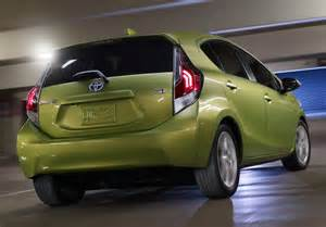 Toyota Prius C 2015 Toyota Gives 2015 Prius C Hybrid Hatch A Light Makeover