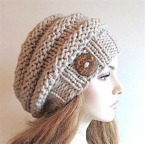 knitting pattern bulky yarn hat bulky slouch beanie beret beehive hat by tvbapril24092218