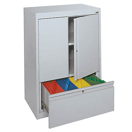 counter height storage cabinet sandusky counter height steel storage cabinet with drawer
