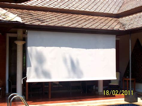 Vertical Awnings by Vertical Awning Roll Up Sunshade With Soltis Sun Screen