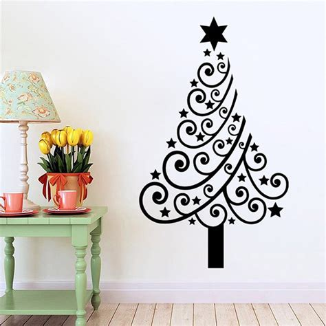 wall stickers reviews removable multicolor tree glass window wall stickers in black sammydress