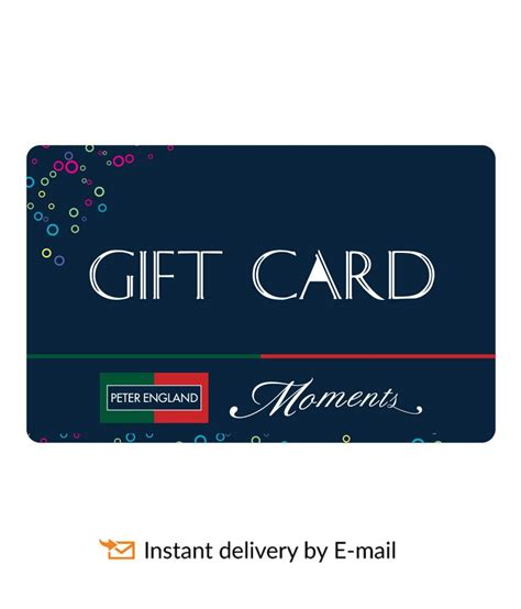 Peter England Gift Card - peter england e gift card buy online on snapdeal