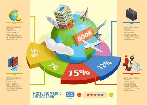 World Travel Infographic Template Vector 05 Free Download Travel Infographic Template