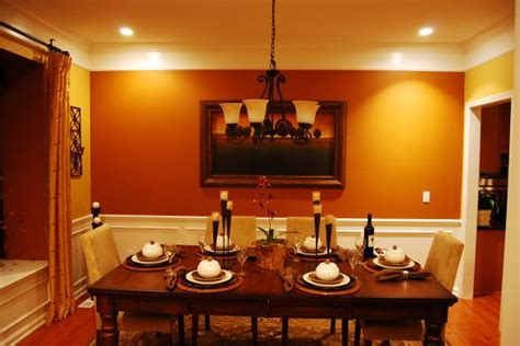 burnt orange dining room orange decorating ideas on orange accent walls contemporary dining rooms and burnt