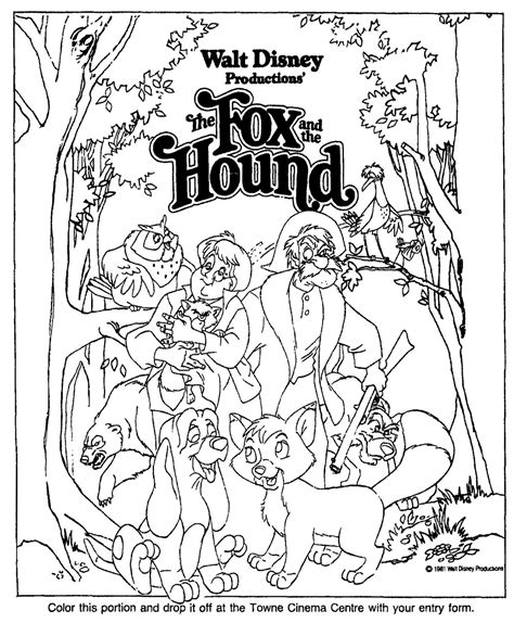 The Fox And The Hound Coloring Pages free coloring pages of fox and the hound