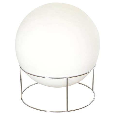 chrome globe floor l globe l with chrome base for sale at 1stdibs