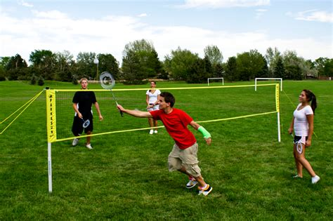 backyard badminton set park and sun sports portable outdoor tournament series