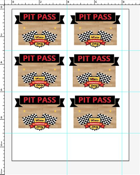 pinewood derby drivers license template images templates