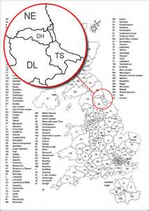 geography uk postcode map