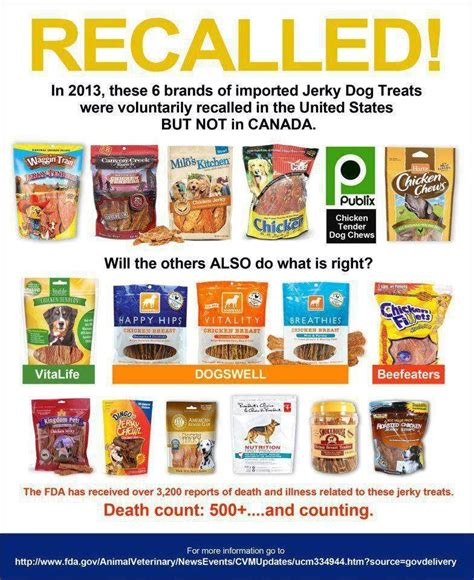 treats brands recalled in 2013 these 6 brands of imported treats were voluntarily