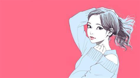 wallpaper pink anime aesthetic michi wallpaper