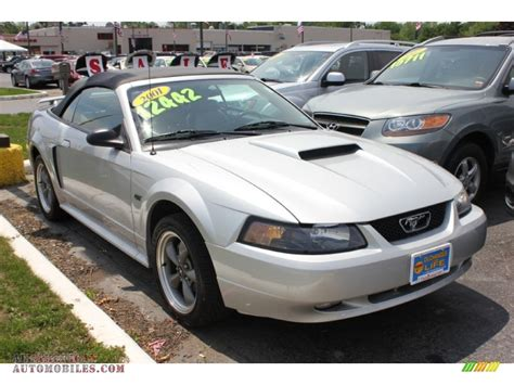 2001 mustang gt 2001 ford mustang gt convertible in silver metallic