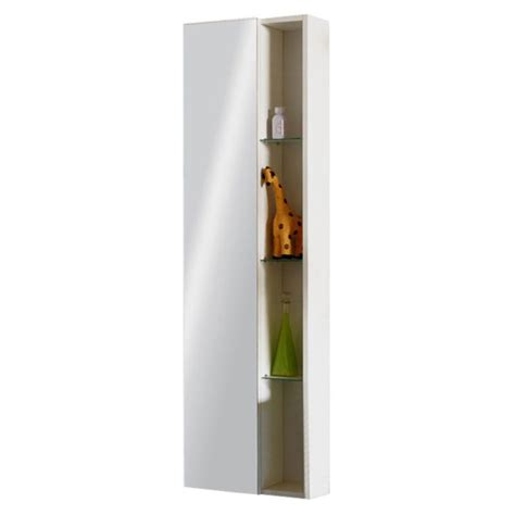 wall hung bathroom storage glow white wall hung mirror storage unit buy at