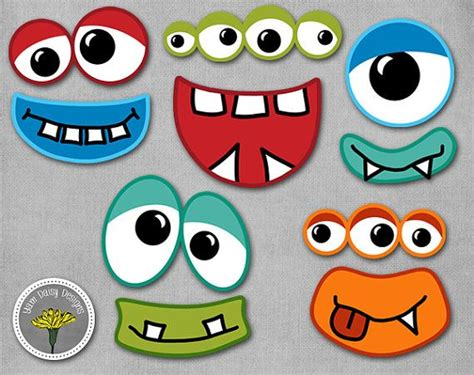 printable monster photo booth props monster photo props printable instant download monster