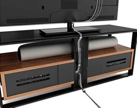 Soundbar Tv Stand by Bdi Sonda Black And Walnut Tv Stand