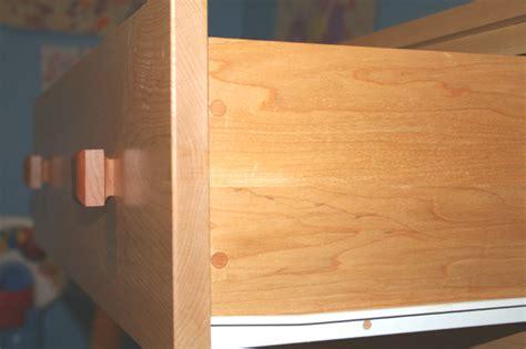 Shop Made Drawer Pulls by Dresser