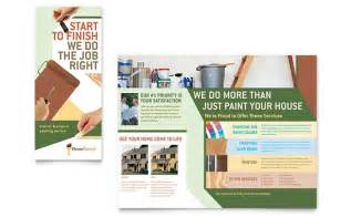 Painting Contracts Sles by Painter Painting Contractor Brochure Template Design