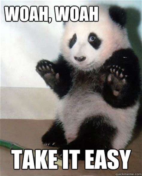 panda take it easy memes quickmeme
