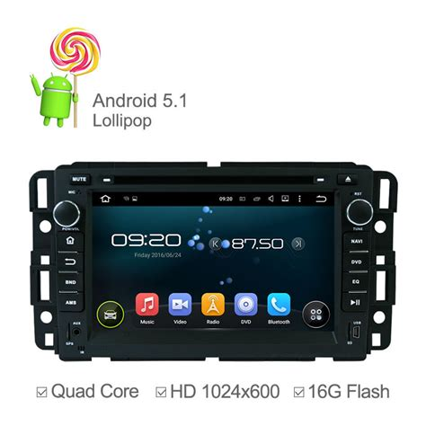hd player for android hd 1024 600 android 5 1 car dvd player for gmc yukon denali chevrolet buick with