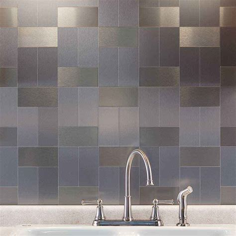 metal kitchen backsplash tiles metal tiles for kitchen backsplash