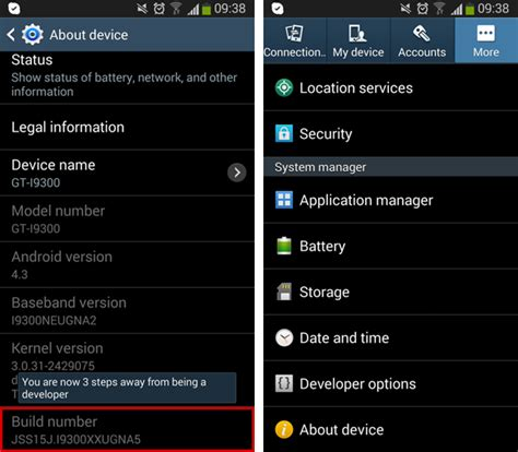 android developer options android 4 3 developer options missing codebin