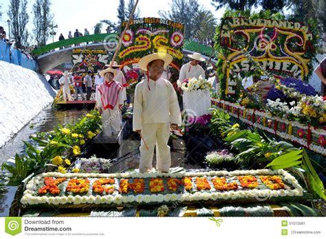 la flor ms bella del co trajinera de xochimilco editorial photo image of