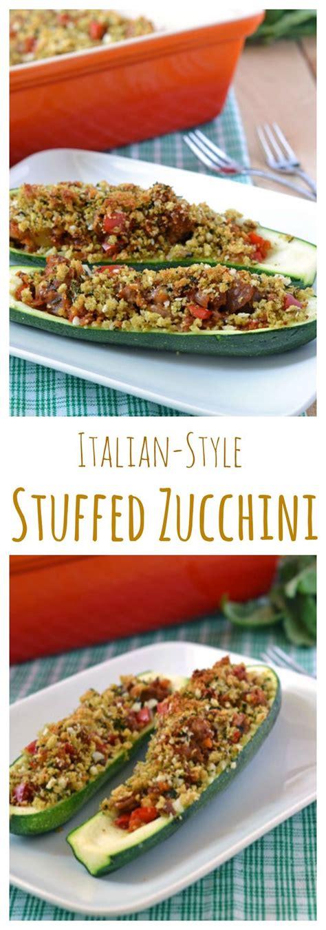 stuffed zucchini boats turkey sausage italian stuffed zucchini boats a light and healthy summer
