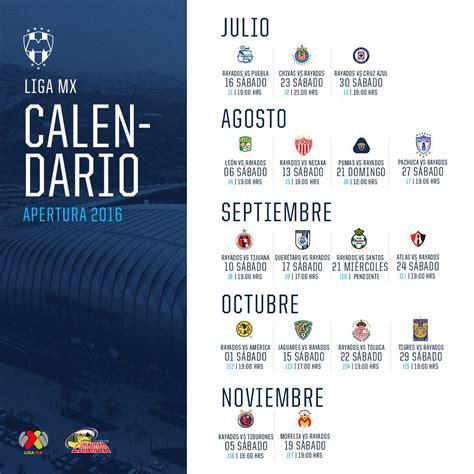 Calendario De Rayados Calendario Rayados Apertura 2016 Calendar Template 2016