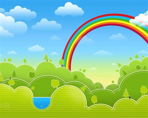 wallpaper awan pelangi december 2011 my little rainbow