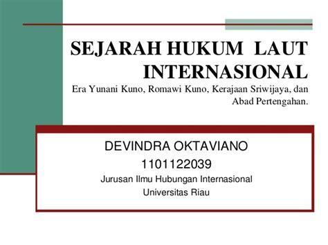 Hukum Investasi Internasional sejarah hukum laut internasional