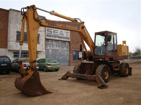 case poclain  p al wheeled excavators year   sale mascus usa