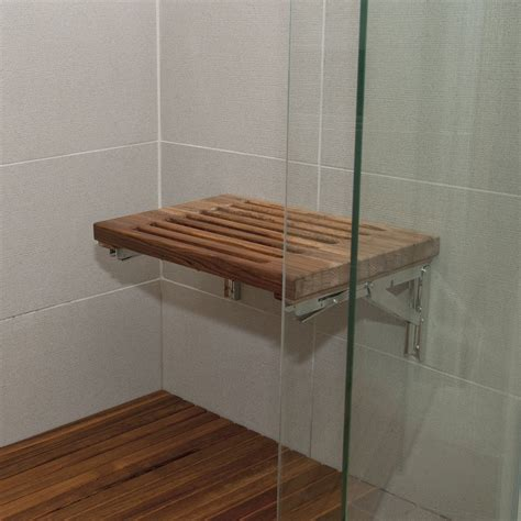 wooden shower bench seats moen teak shower seat image of ideas of teak folding