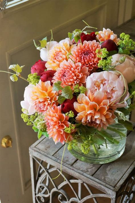 peonies and orange blossoms designing 867 best beautiful arrangements images on