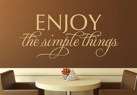 word wall stickers for bedrooms enjoy the simple things wall decal stylish vinyl decor