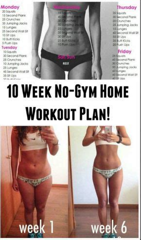 10 week no home workout plan sit ups to get buff