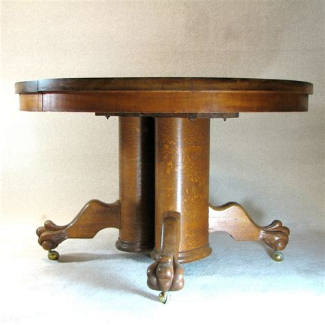 Antique Oak Pedestal Dining Table Dining Table Tiger Oak Pedestal Dining Table