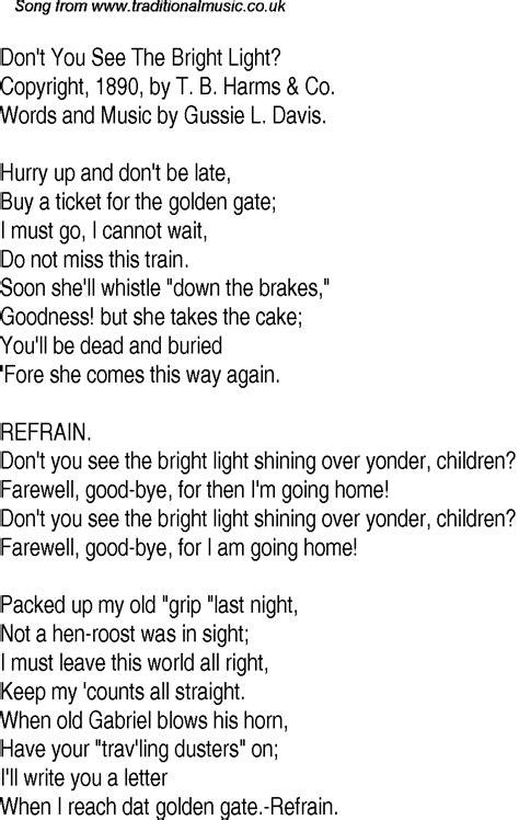 Lyrics To I See The Light by Time Song Lyrics For 26 Don T You See The Bright Light