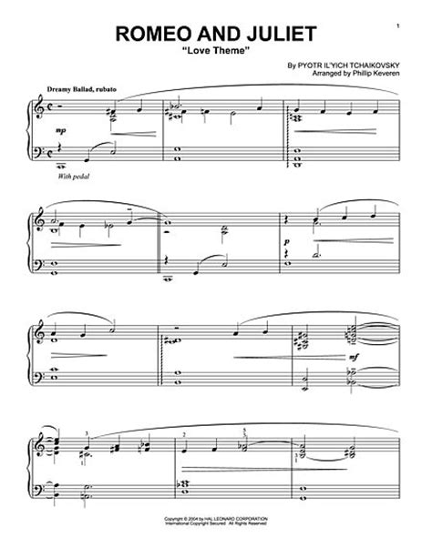 theme songs for romeo and juliet characters download romeo and juliet love theme sheet music by