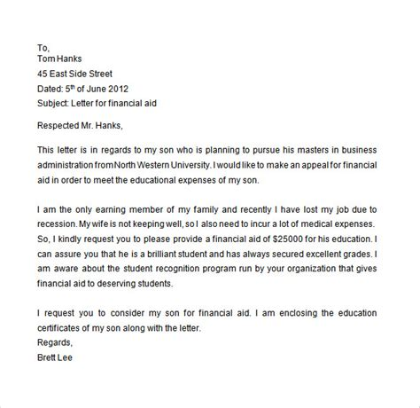 Financial Aid Academic Appeal Letter Sle Charity Appeals Essay