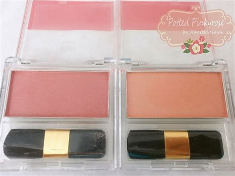Fanbo Microshimmer Blush On 1 potted pinkyrose review fanbo blush on 01 dan 02