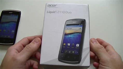 Handphone Acer Liquid Z110 acer liquid z110 duo d 233 ballage par top for phone fr