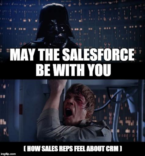 Salesforce Meme 8 memes on how sales reps feel about crm data entry