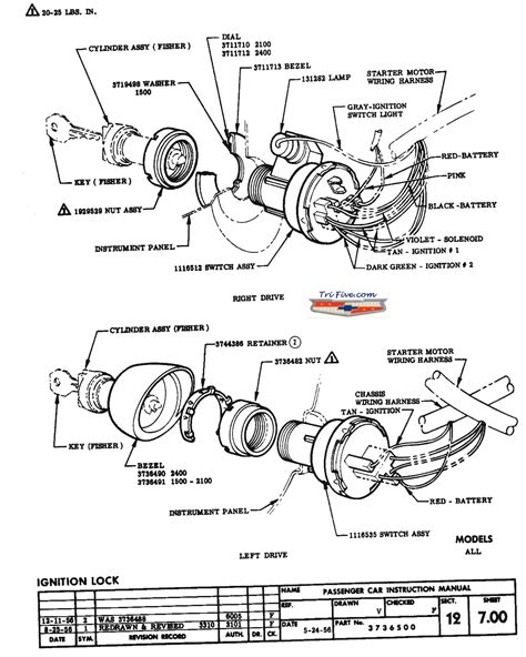 1955 chevy truck headlight switch wiring diagram wiring