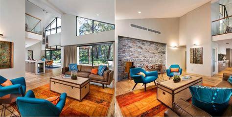 orange and blue decor decorating a living room with orange and blue living room