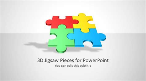 3d Jigsaw Piece Shapes For Powerpoint Slidemodel Jigsaw Powerpoint