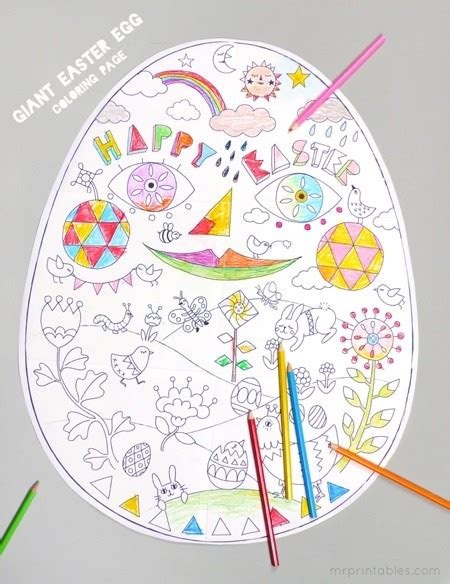 free printable easter coloring pages crafts easter egg printable easter coloring page